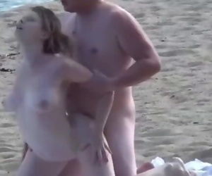 Hard fuck on the beach with..