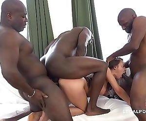 Interracial extreme orgy..